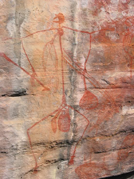 Aboriginal Art - Stick Man