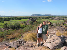 truk and Kath at Ubirr
