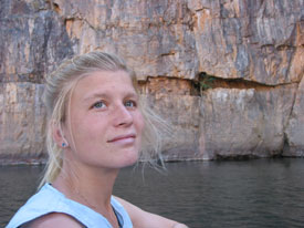 kath at Katherine Gorge