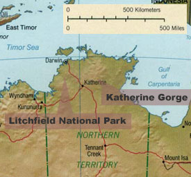 Darwin, Litchfield National Park, Katherine Gorge